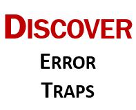 Discover error traps